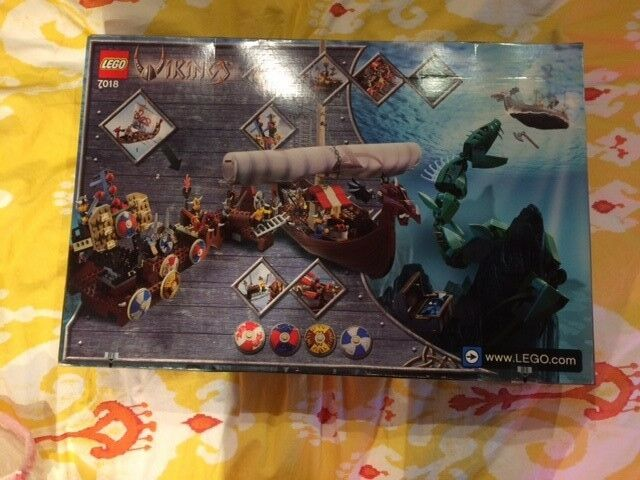 NEW & Sealed - LEGO Vikings Viking Ship challenges the Midgard Serpent (7018)
