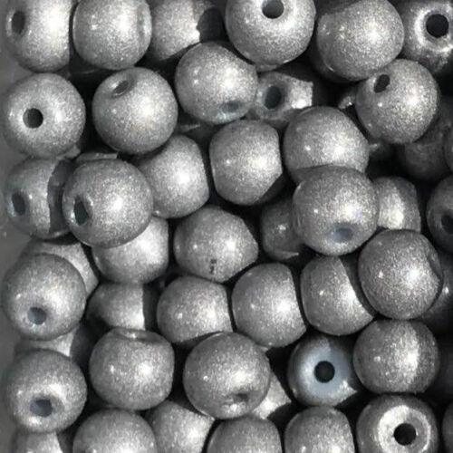 Glasperlen 40533 metallic-grey Ø 4 mm MiPerla 50 Stück