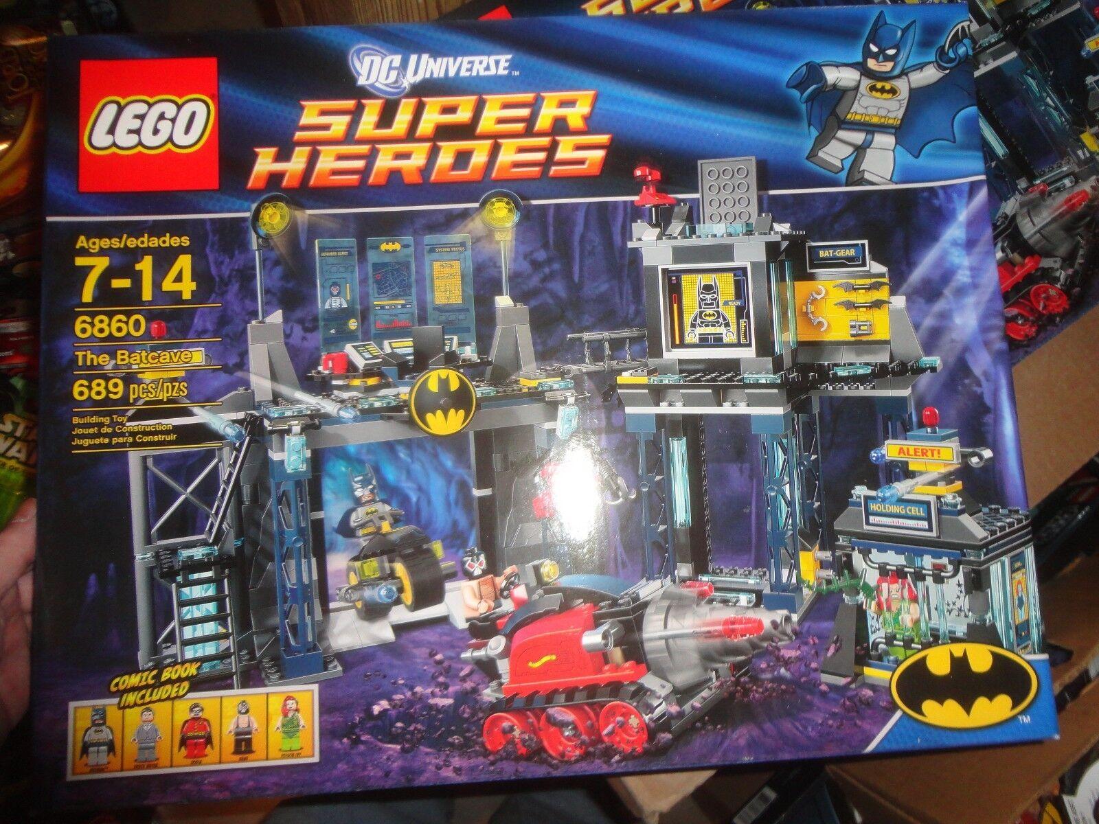 LEGO DC UNIVERSE SUPER SUPER SUPER HEROES BATMAN -THE BATCAVE- SEALED, 6860, 689 PIECES 884e57