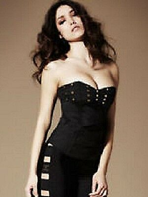 Ann Summers ~ Trinity Black Stud Corset (size 12) Fantastic Gift Sophisticated Technologies