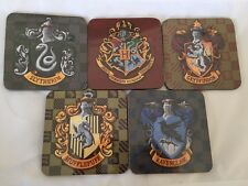 Harry Potter Coaster Set X 5 Ravenclaw Gryffindor Slytherin Hufflepuff Hogwarts