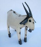 Yard Art Metal Goat Sculpture 15 1/2 Long Animal