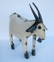 Yard Art Metal Goat Sculpture 15 1/2 Long Animal