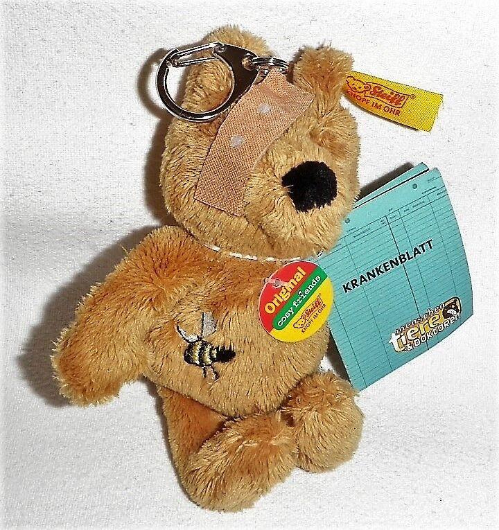 Steiff 110740 - Schlüsselanhänger Benny – Original cosy friend Bär wie neu | Qualität  | Spezielle Funktion  | Sonderaktionen zum Jahresende