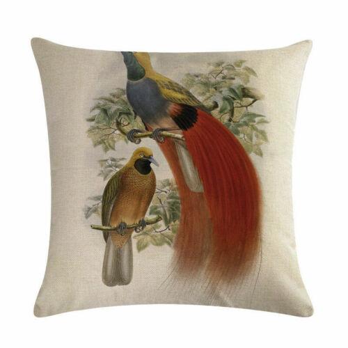 """18/"""" golden pheasant Pattern Cotton Linen Cushion Cover Pillow case Home Decor"""