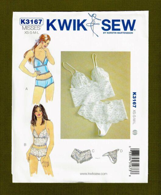 Kwik Sew Ladies Sewing Pattern 3167 Camisoles /& Panties Lingerie KwikSew...