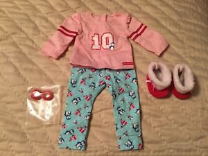 American Girl Truly Me Holiday Penguin Pajamas /& slippers NEW Pj/'s Christmas