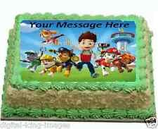 paw patrol Cake topper edible digital image icing quarter slab A4 REAL FONDANT