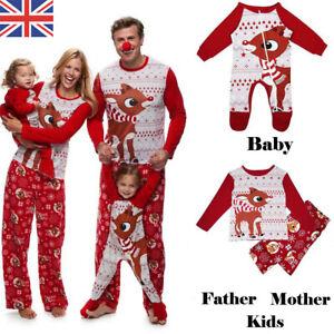 Next Christmas Pyjamas 2019.Details About 2019 Family Matching Adult Kids Christmas Pyjamas Nightwear Pajamas Pjs Sets Uk