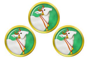 Sacred-Vache-Hindou-Marqueurs-de-Balles-de-Golf