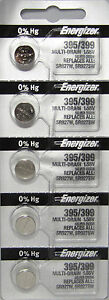 5-PCS-FRESH-Energizer-395-399-SR927SW-SR927W-Silver-Oxide-Watch-Batteries