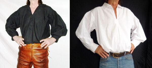 100% De Calidad Pirata/ Esgrima/ Rock Star / Morris Camisa De Algodón,gótico,rocabilly,disfraz