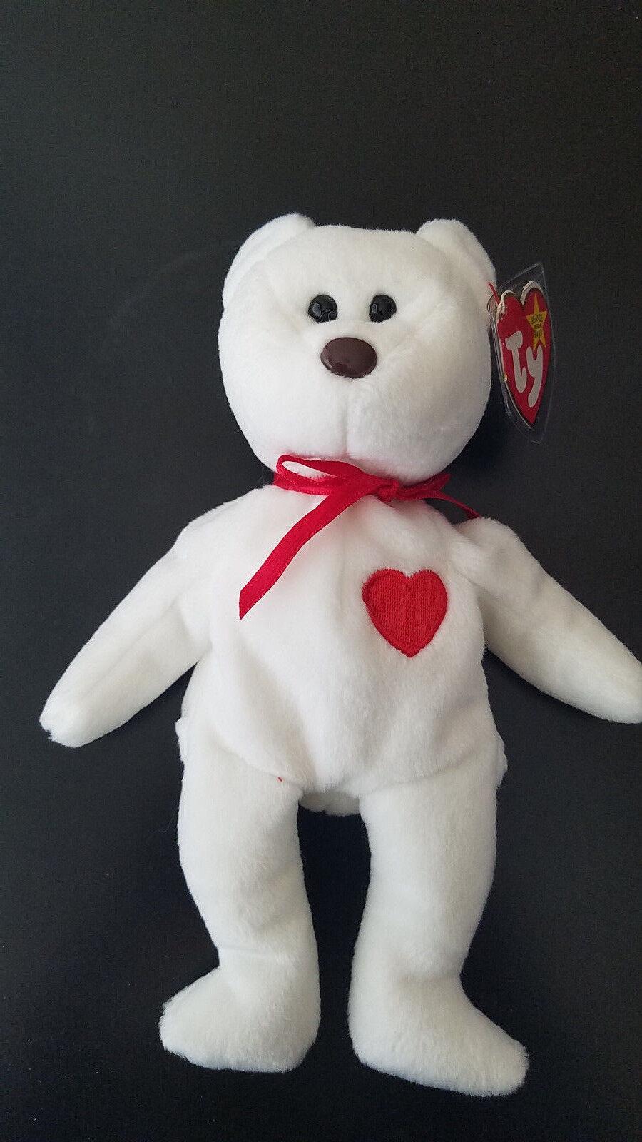 Lot of 9 TY Beanie Beanie Beanie Babies Bears Osito Erin Wallace Curley Cashew Fuzz Valentino 7a1bb8