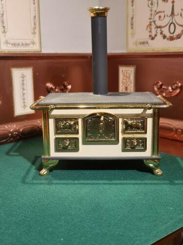 Muñeca casa muebles Bodo Hennig Metal Negro//Oro Victoriano Rango 1.12th Bo