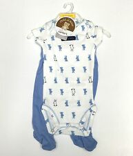 New Carters My First Easter Baby Outfit White Blue 2 Piece Set Newborn Bunnys