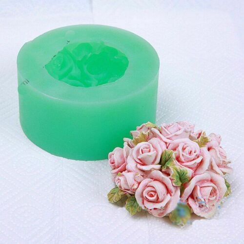 Rose Flower Silicone Mould Roses Candles Soap Making Aroma Stone Candy Clay Mold