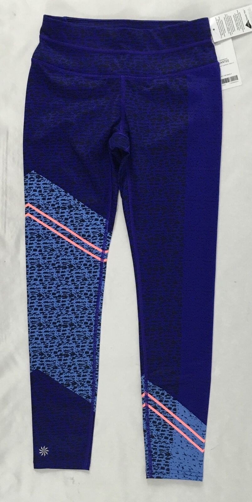 Athleta Women's Mid Rise Asym Camo Sonar 7 8 Tight Purple  98 Size XS