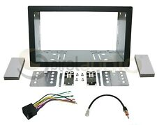 Radio Dash Kit Combo Standard 2DIN RUBBERIZED BLACK + Wire Harness + Antenna SA3