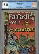 1966 MARVEL FANTASTIC FOUR #48 1ST APPEARANCE SILVER SURFER CGC 2.0 OW-W