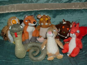 THE-GRUFFALO-CHILD-SQUIRREL-SNAKE-MOUSE-FOX-OWL-SET-OF-7-SMALL-PLUSH-SOFT-TOY