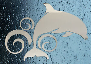 NEW-Dolphin-Shower-Screen-Sticker-Bathroom-Decal-Choice-of-Colours