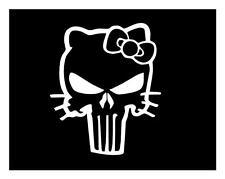 HELLO KITTY PUNISHER SKULL 5X6 LAPTOP IPAD MILITARY BIKER WINDOW DECAL STICKER
