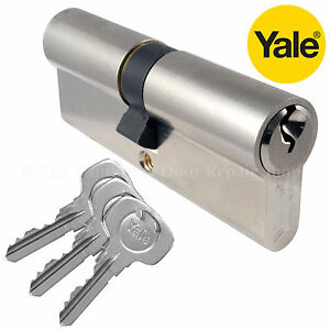 Yale Euro Cylinder Barrel Door Lock Pin UPVC Door Aluminium Wood - Cylindre de porte