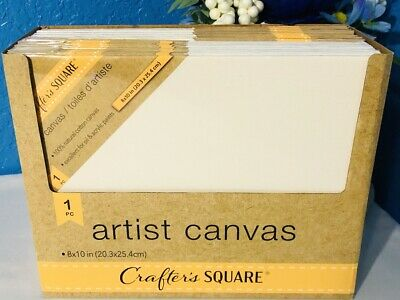 """3 Pack Lot 8/"""" X 10/"""" Stretched 100/% Cotton Canvas Art Supplies Acrylic Oil Paint"""