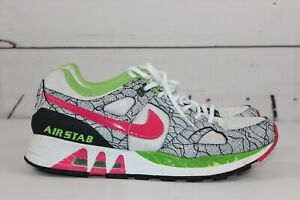 5ecabbb6f4 Details about Nike Air Stab Women's White Pink Green Black Sz 10.5 Running  Shoes Nike iD