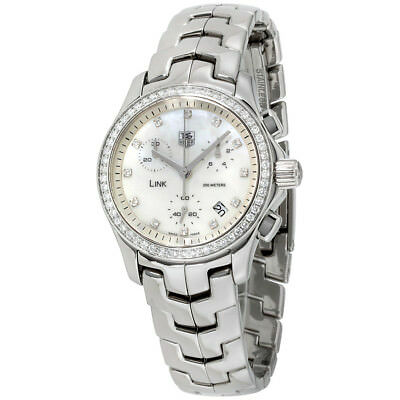 Tag Heuer Link Mother of Pearl Dial Stainless Steel Ladies Watch CJF1314.BA0572