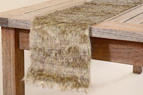 Tavolo NASTRO pelliccia alfiere Decorazione Kunsstoff Marrone 120 x 20 tavolo risiedono 7695400