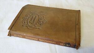 Details Sur Livre Anglais Robert Browning Couverture En Cuir
