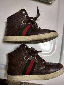 Used brown Gucci Kids boys High Top