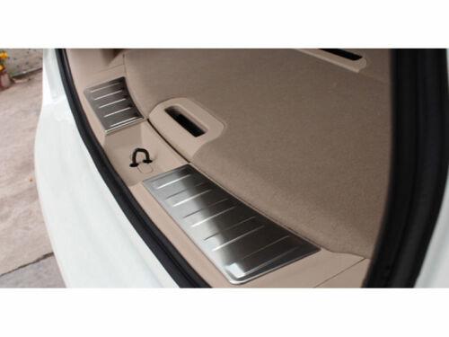 Steel Inner Rear Bumper Guard Plate Trim for 2014-2016 Nissan X-Trail Rogue 2pcs