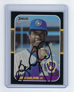 1987-BREWERS-Ben-Oglivie-signed-card-Donruss-419-AUTO-Autographed-Milwaukee
