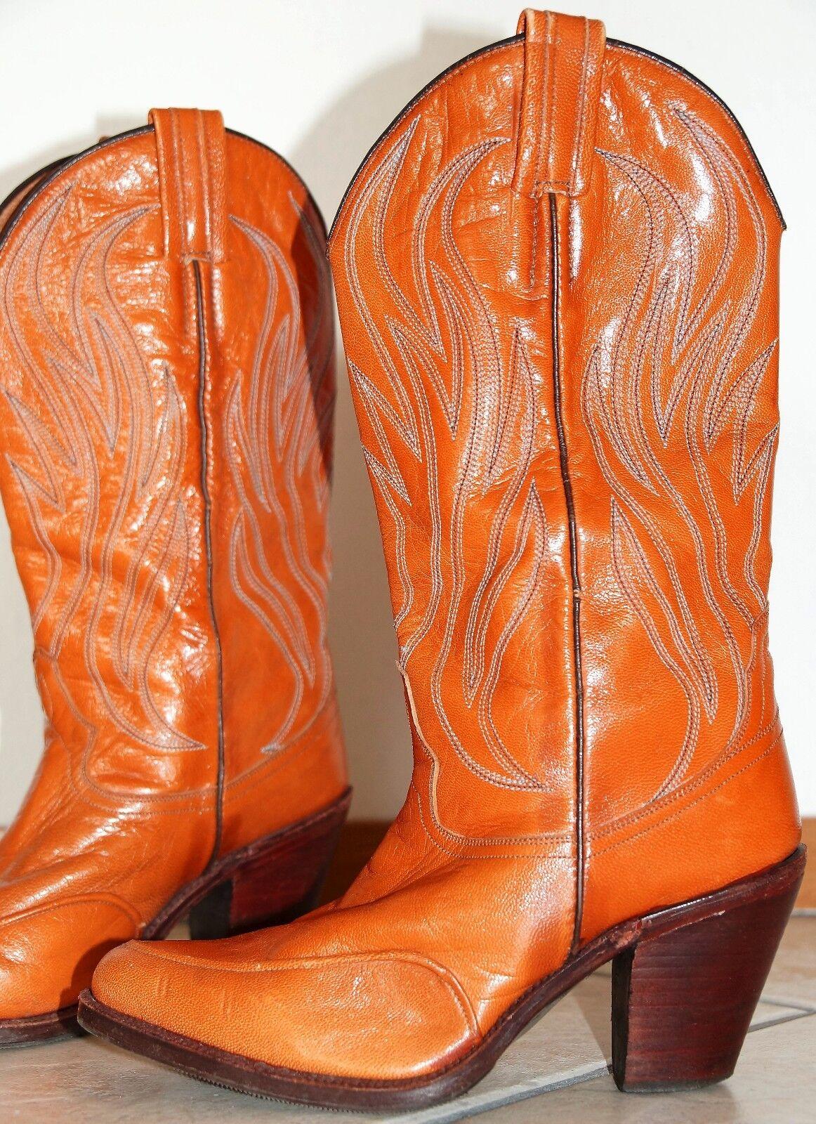 Tony mora 36, elegante cuero cuero cuero auténtico campus rodeo Western botas botas de cowboy, 8 cm a051d1
