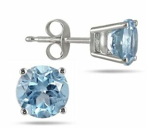 Natural-Aquamarine-7-mm-Round-Platinum-Over-Sterling-Silver-Stud-Earring