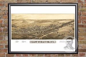 Vintage-East-Syracuse-NY-Map-1885-Historic-New-York-Art-Victorian-Industrial