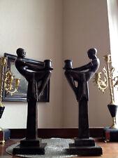 Bronze Kerzenleuchter im Art Deco Jugendstil ca 40 cm Frankreich Skulptur Akt