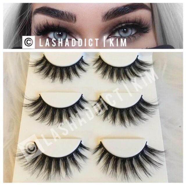 a8149f70840 3 Pairs Mink Lashes Eyelashes WSP Luxy Makeup New Fur 3D Style US SELLER