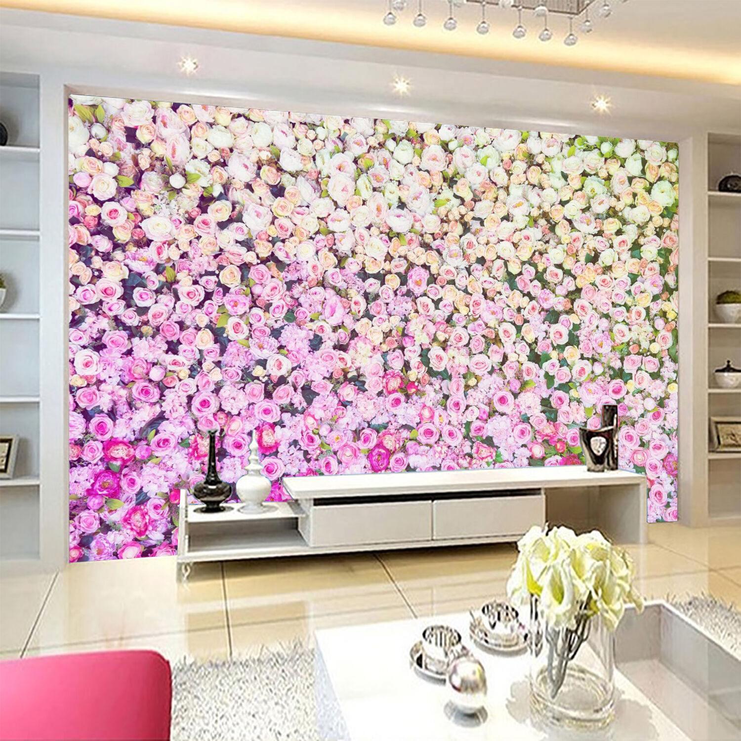 3D Dense Flowers 090 WallPaper Murals Wall Print Decal Wall Deco AJ WALLPAPER