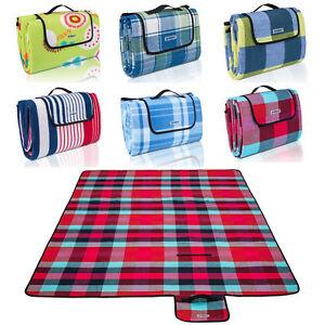 XXL picnic Manta Camping viaje Manta Camping BBQ la humedad protección 200 x 200 cm rojo