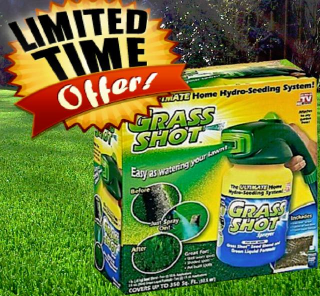 Grass Shot Liquid Spray Lawn Fertilizer Hydro Seeding Mousse Grass