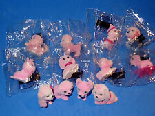 PUPPY IN MY POCKET Ultra Rare PINK COLLECTION 12 Dogs Barbie Fashion Royalty Siz