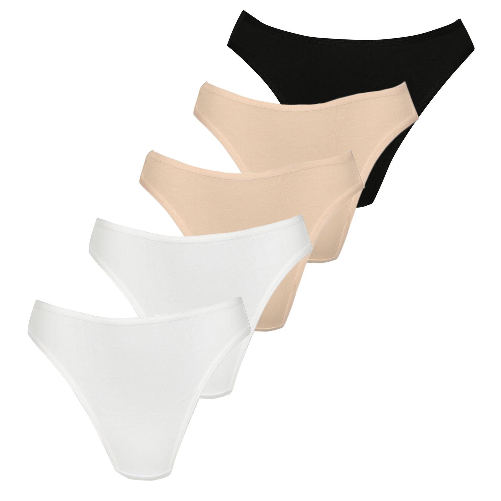 schlüpfer Baumwolle Cotton Panties Unterwäsche 5er oder  3er Slips Hipster