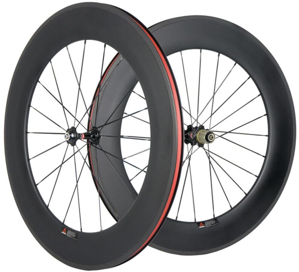 88mm Drahtreifen Vorne+hinten Laufradsatz 23mm Breite 700C Carbon Wheelset 271   brands online cheap sale