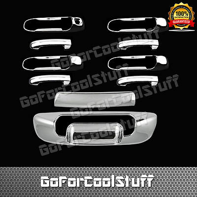 For Dodge 02-08 Ram 1500 Chrome 4 DOOR Handle w//oPskh+Trunk Tailgate Cover w//oKh