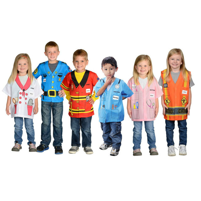 Kids 6 Career Costume Boy Girl Doctor Chef Fireman Police Children Fun Dress Up | EBay