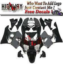 ABS Plastic Full Fairing Kit Fit Honda CBR900RR 919 98 99 1998 1999 Black Silver
