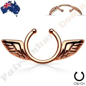 Image Is Loading 316l Surgical Steel Rose Gold Ion Plated Clip